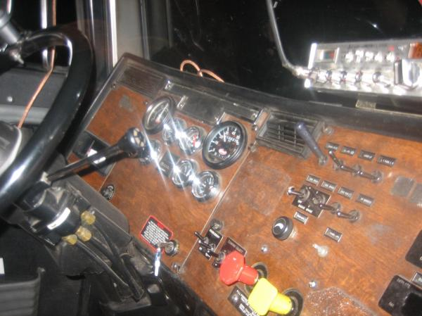 The inside of 503, Sam's Peterbilt.