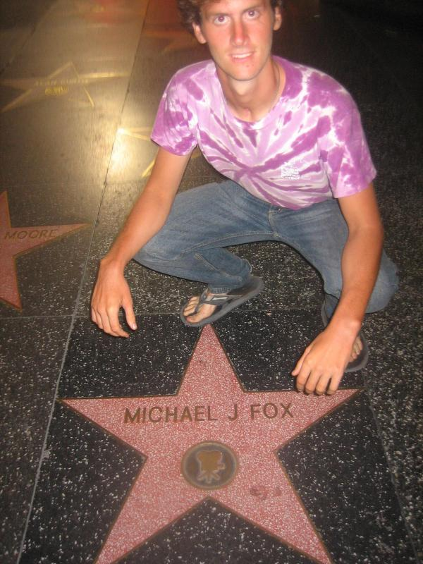 Gary at, parkinson's spokesperson, Michael J. Fox's star.