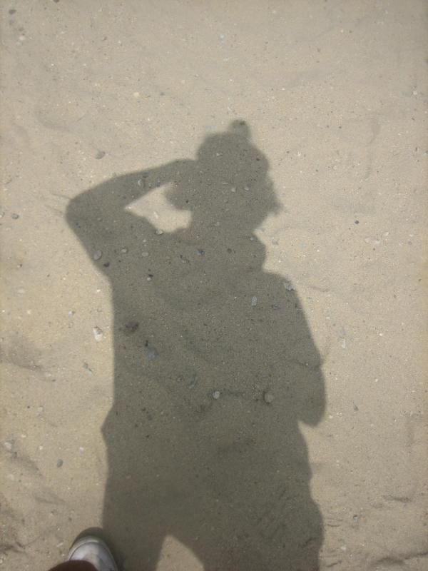 A shadow in the sand